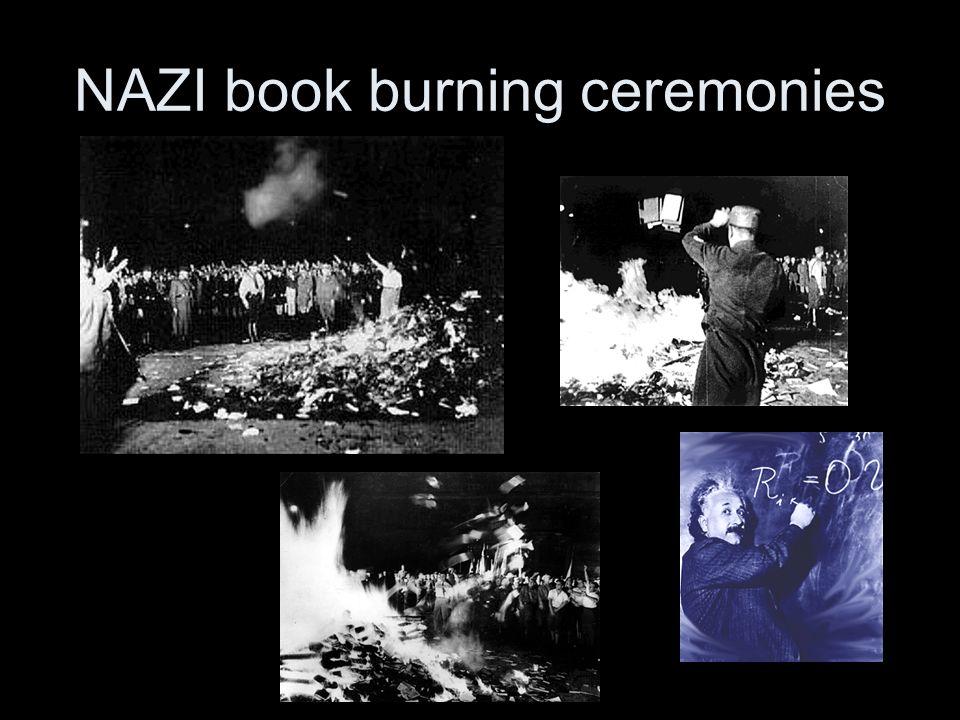 NAZI book burning ceremonies