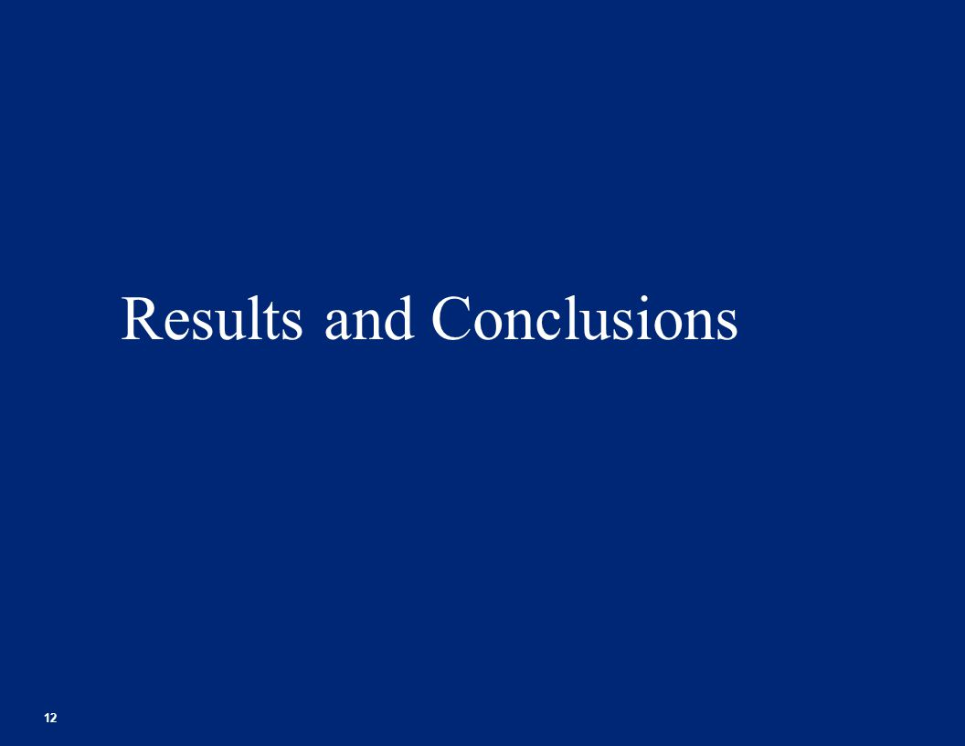 Results and Conclusions 12 Footer