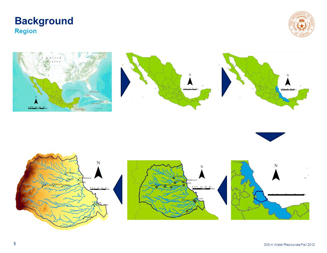 GIS in Water Resources Fall 2012 5 Background Region