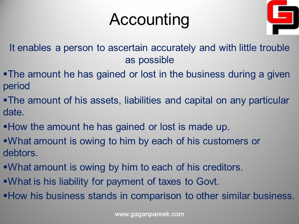 Accounting Cycle www.gaganpareek.com