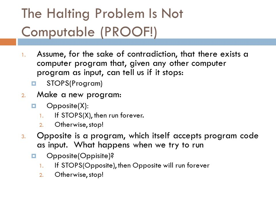 The Halting Problem Is Not Computable (PROOF!) 1.