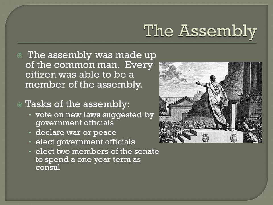  The assembly was made up of the common man.