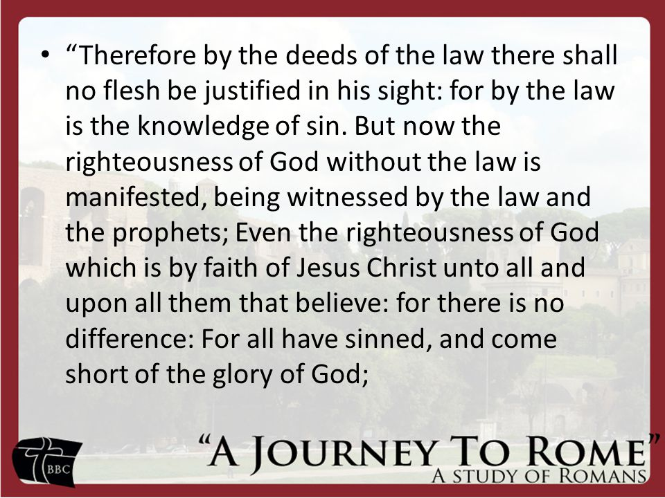 Question: How then do I obtain this righteousness if it isn't by keeping the law?