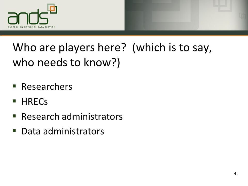 Who are players here.
