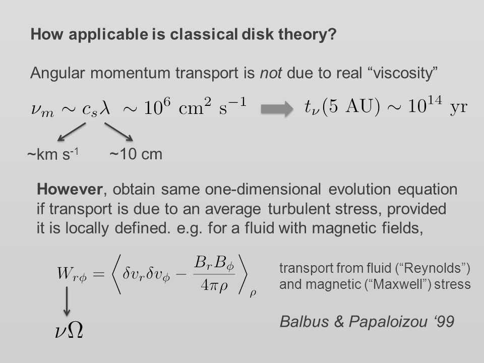 How applicable is classical disk theory.