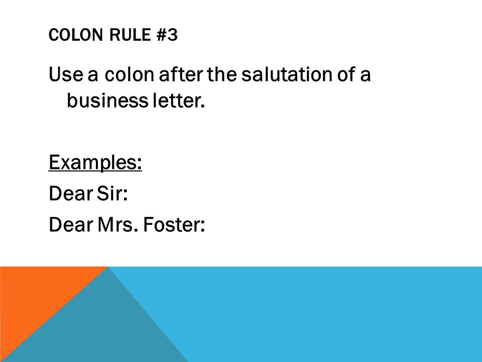 ADD TO NOTES: Use a colon between chapter and verse in Biblical references and between titles and subtitles.
