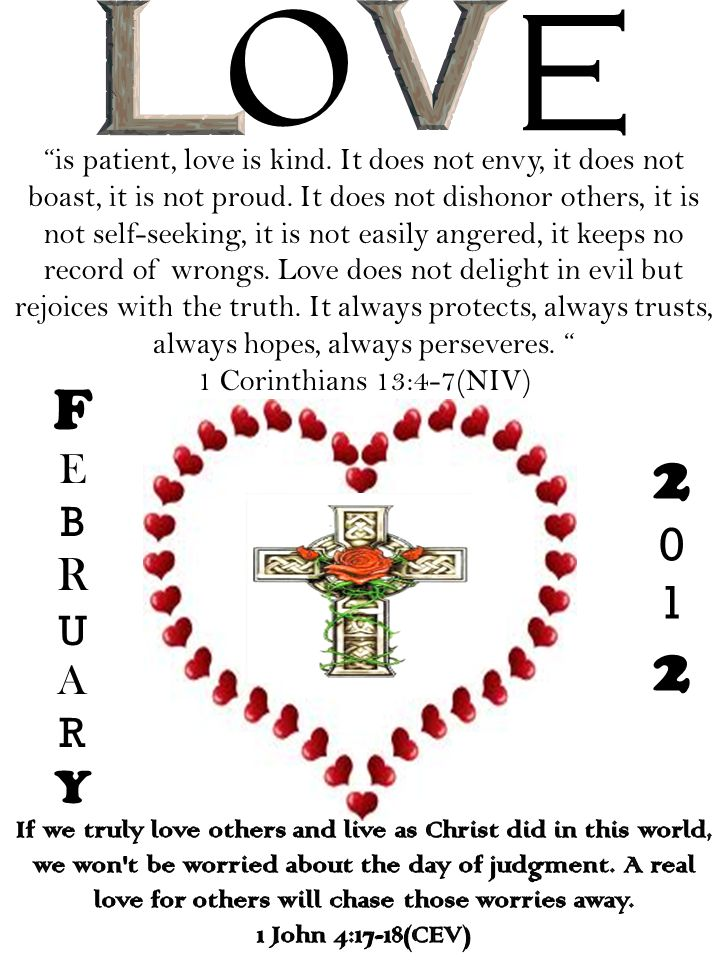 FEBRUARYFEBRUARY 20122012 is patient, love is kind.