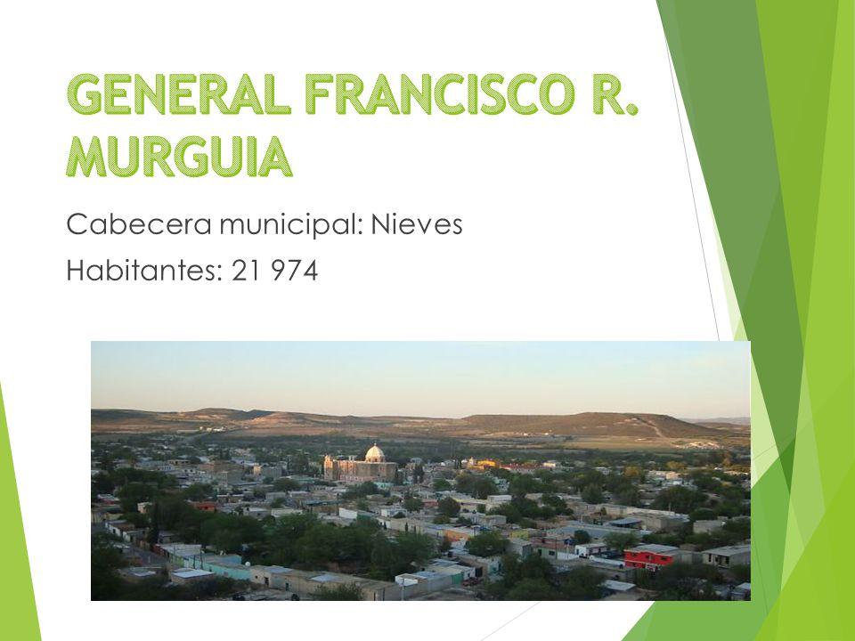 Cabecera municipal: Nieves Habitantes: 21 974