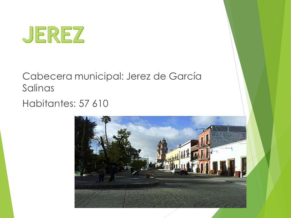 Cabecera municipal: Jerez de García Salinas Habitantes: 57 610