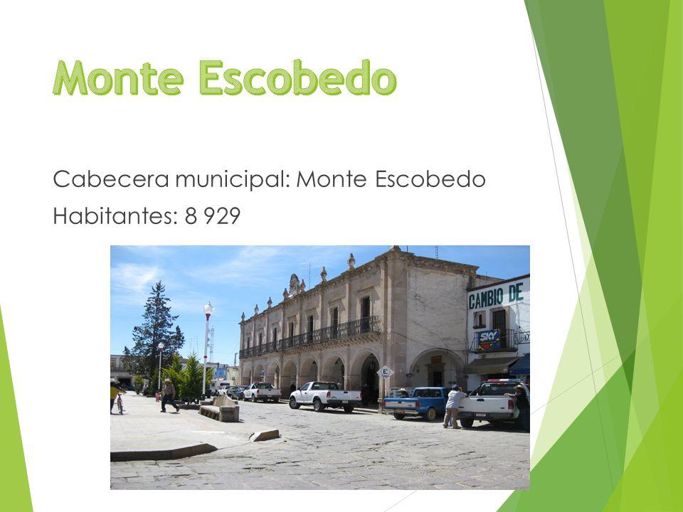 Cabecera municipal: Monte Escobedo Habitantes: 8 929