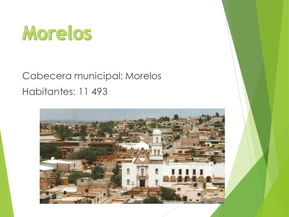 Cabecera municipal: Morelos Habitantes: 11 493