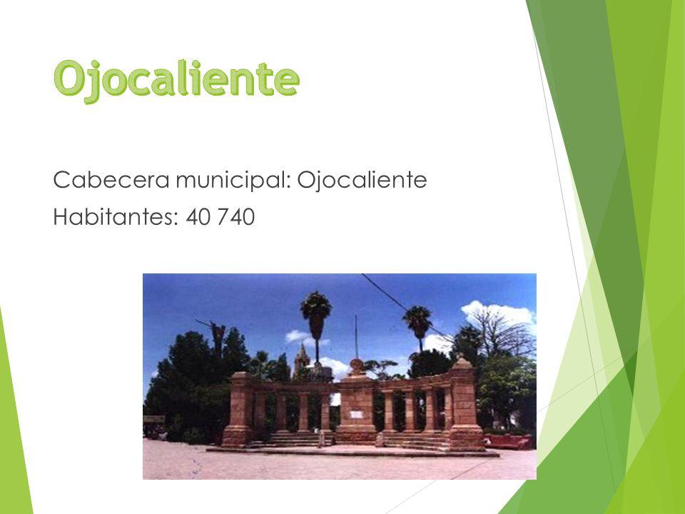 Cabecera municipal: Ojocaliente Habitantes: 40 740