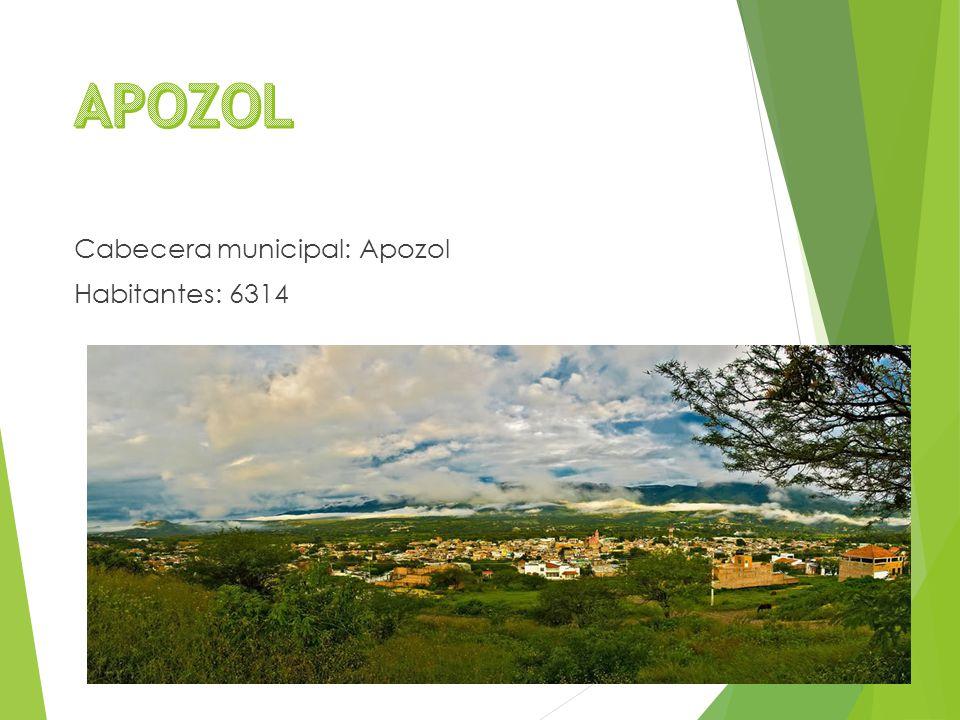 Cabecera municipal: Apozol Habitantes: 6314