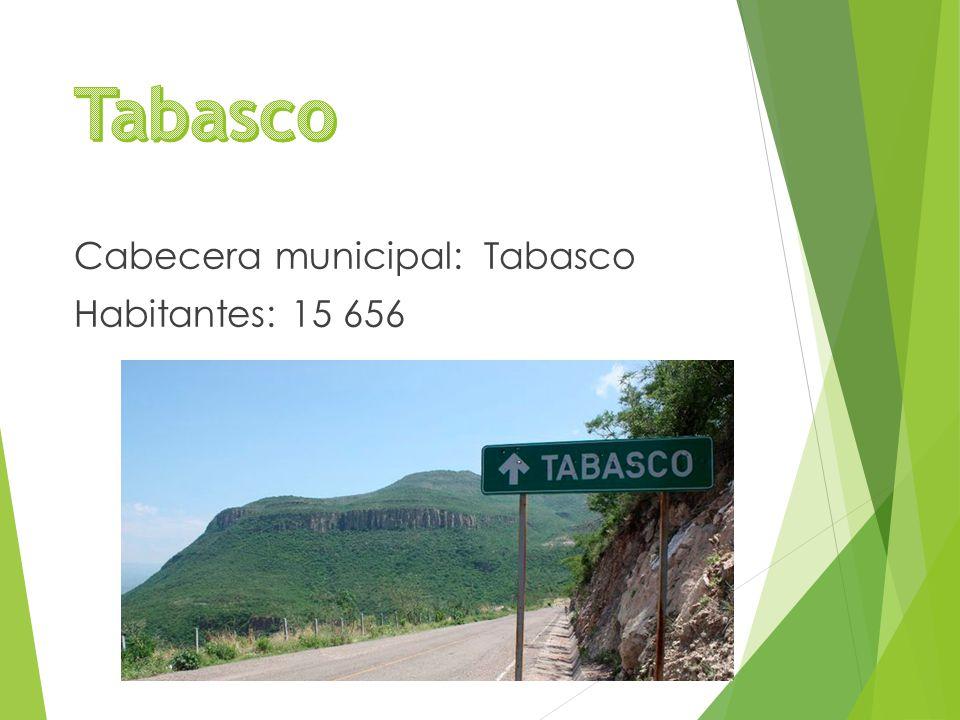 Cabecera municipal: Tabasco Habitantes: 15 656