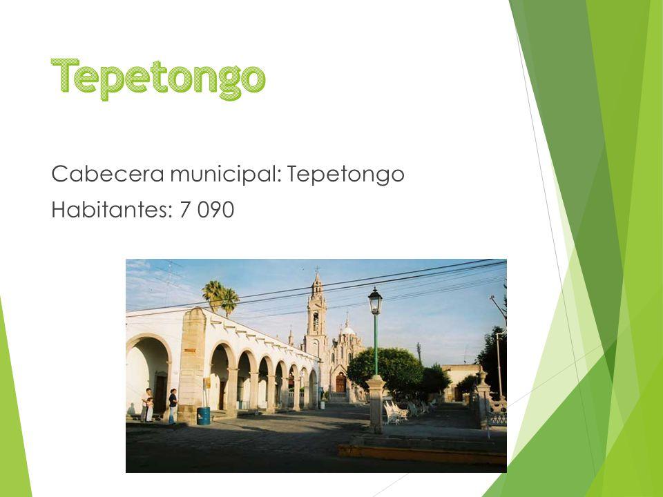 Cabecera municipal: Tepetongo Habitantes: 7 090