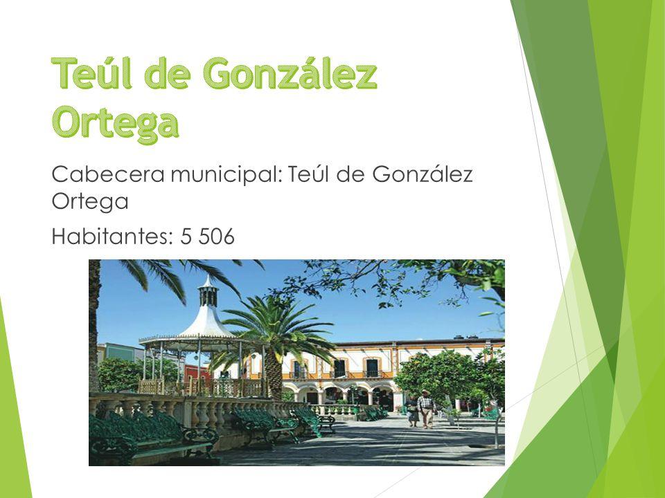 Cabecera municipal: Teúl de González Ortega Habitantes: 5 506