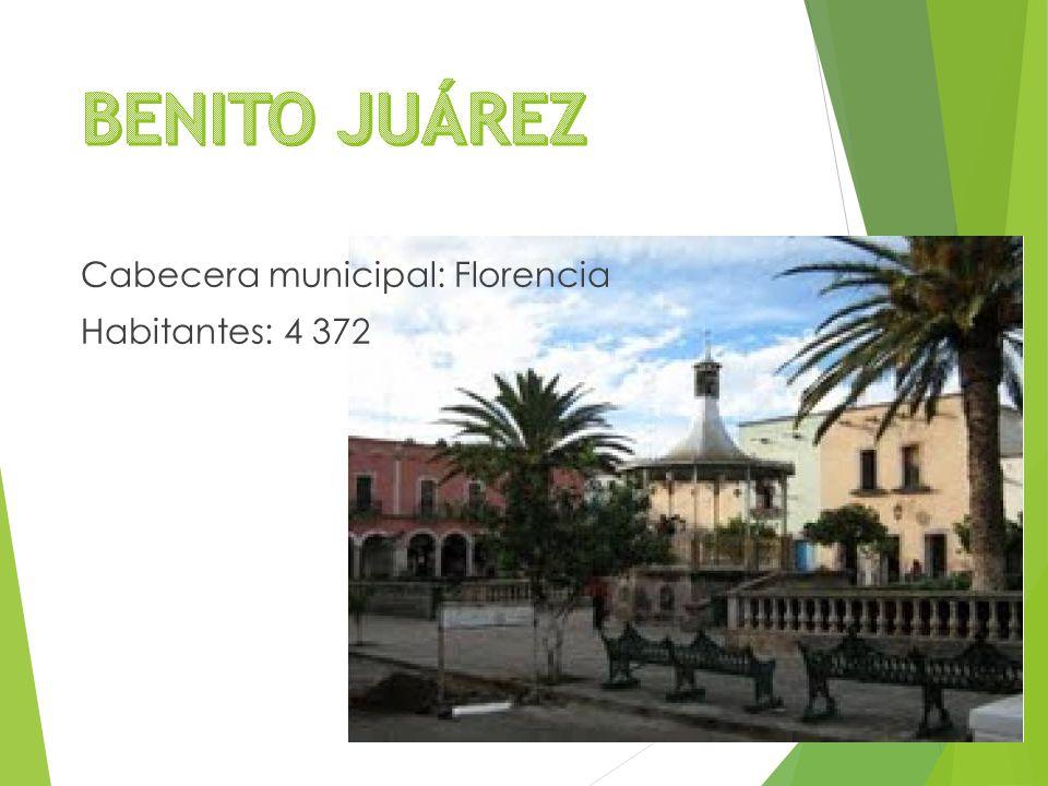 Cabecera municipal: Florencia Habitantes: 4 372