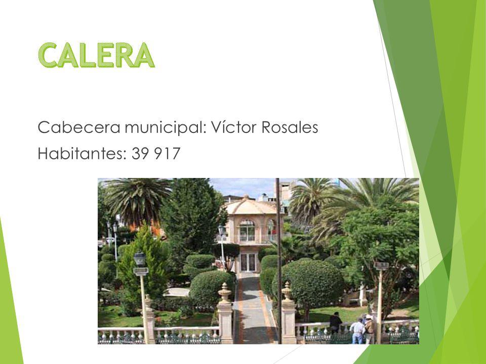 Cabecera municipal: Víctor Rosales Habitantes: 39 917