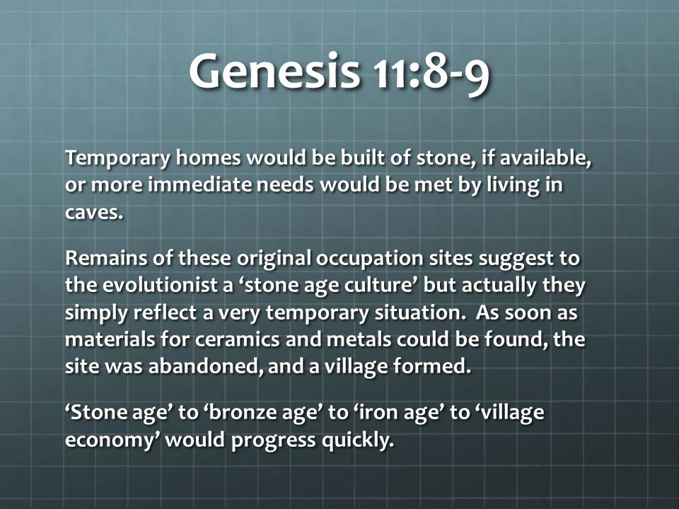 Genesis 11:8-9 Q: Would the Tower of Babel confusion explain differences in cultures around the world.