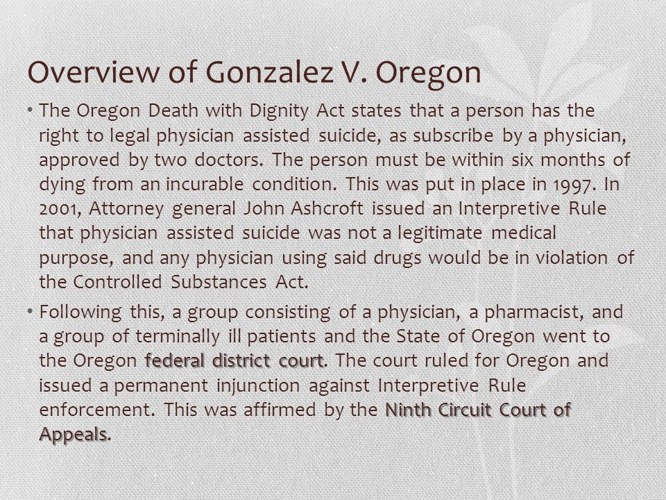 Overview of Gonzalez V.