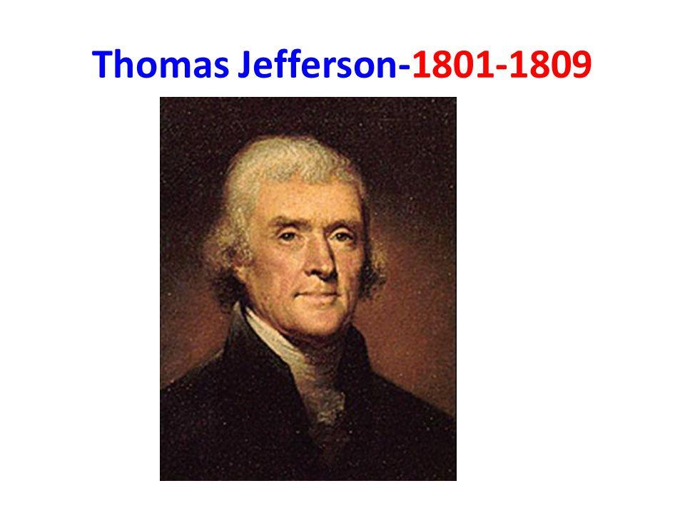 Thomas Jefferson-1801-1809