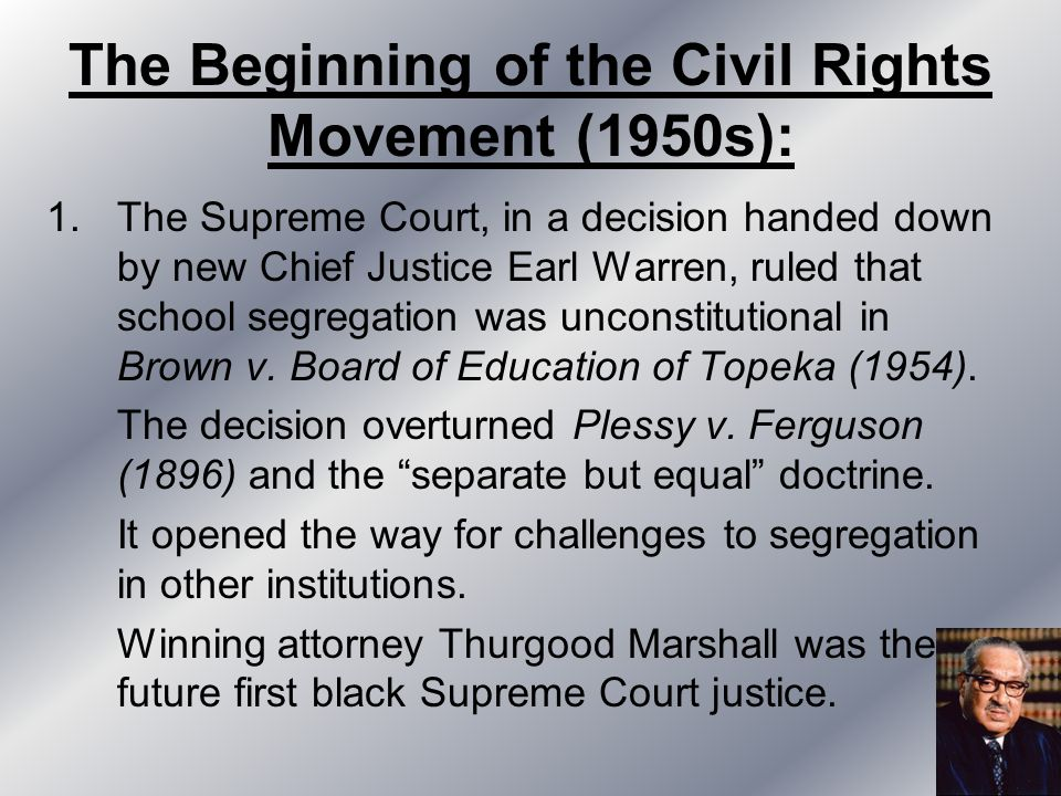 Notes: The Civil Rights Movement