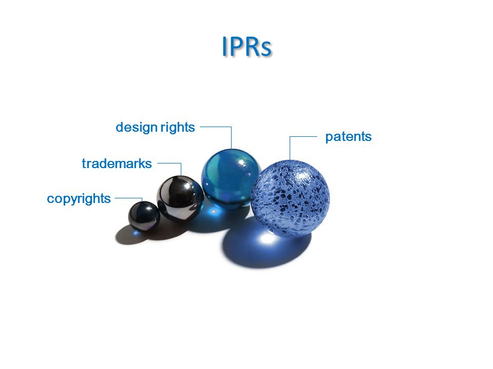 IPRs copyrights patents trademarks design rights