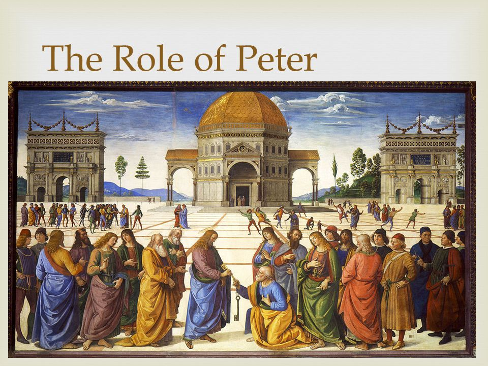 The Role of Peter  Peter recognized that Jesus was the Messiah – the Son of the Living God  For this, Peter is given a special blessing – and later a special role in the Church.