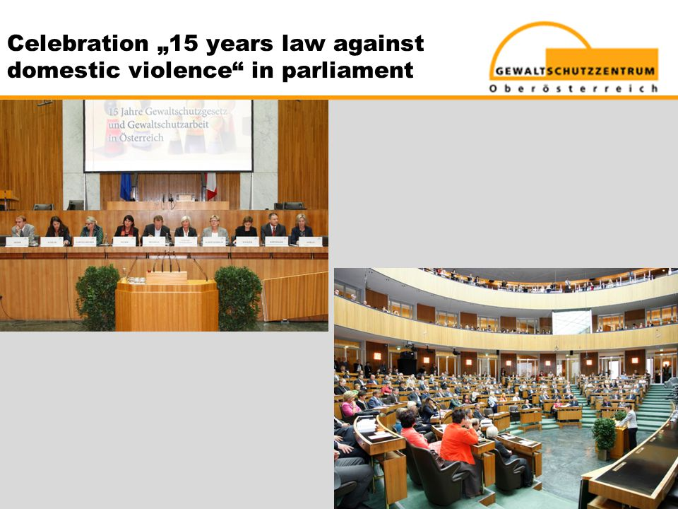 "Celebration ""15 years law against domestic violence in parliament"