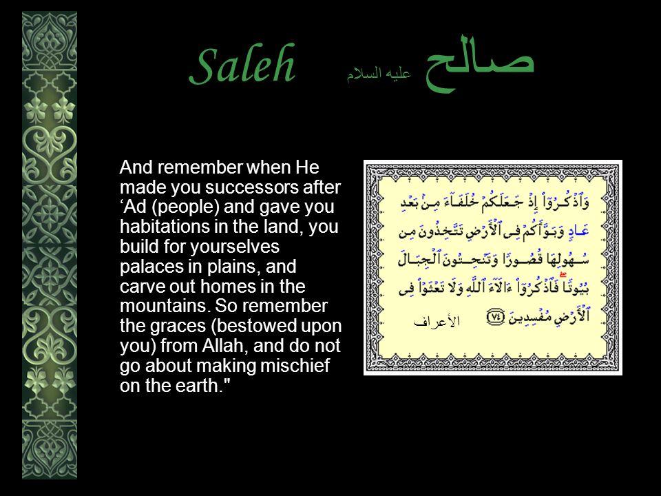 Saleh عليه السلام صالح Thamud belied the warnings.