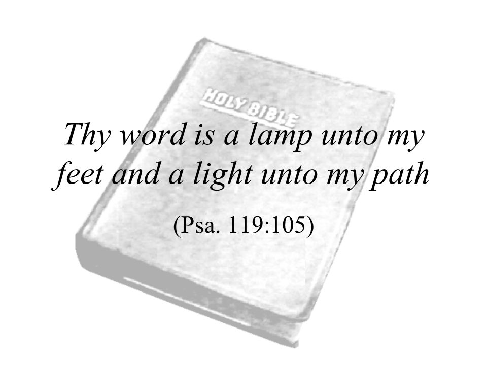 Thy word is a lamp unto my feet and a light unto my path (Psa. 119:105)