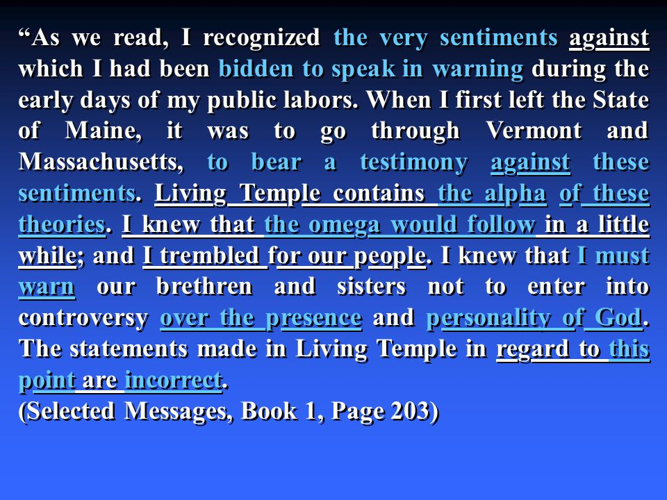 As we read, I recognized the very sentiments against which I had been bidden to speak in warning during the early days of my public labors.