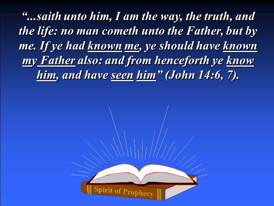 False Track In the time of the disciples, True Track John testified of Christ Jesus, Who, was speaking unto Thomas, when He… The Ending False Track Track of Time Time of disciples Time of disciples ...saith unto him, I am the way, the truth, and the life: no man cometh unto the Father, but by me.