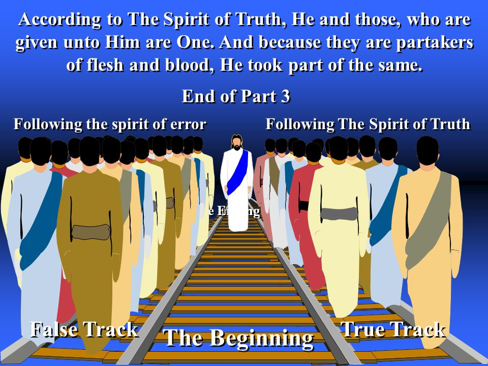 The Ending The Beginning According to The Spirit of Truth, He and those, who are given unto Him are One.