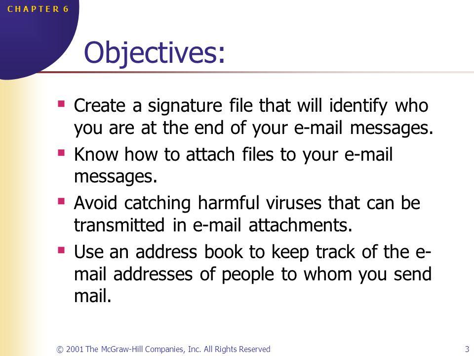 © 2001 The McGraw-Hill Companies, Inc.