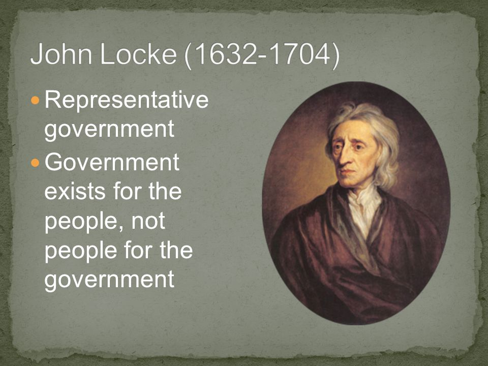 Representative government Government exists for the people, not people for the government