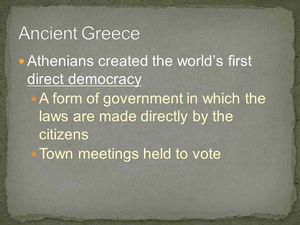 Colonial Legislatures- from Ancient Rome 509 B.C.