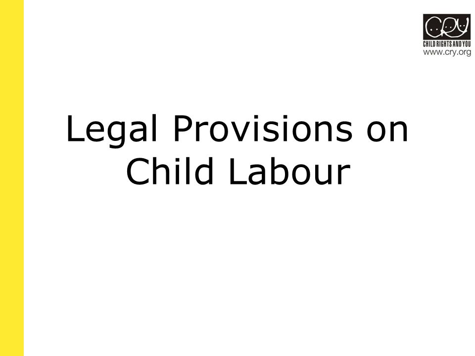 Drawbacks in the 1986 Act The act excludes any work done in the family or in government-run or recognized schools, even if the act prohibits children from doing that work in any other context.