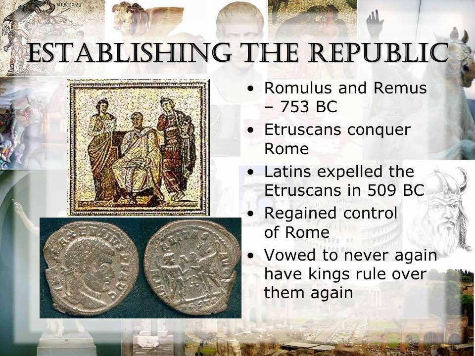 the Republic Established the Roman Republic –Got idea from Plato's book The Republic Forum = business and government center of the city