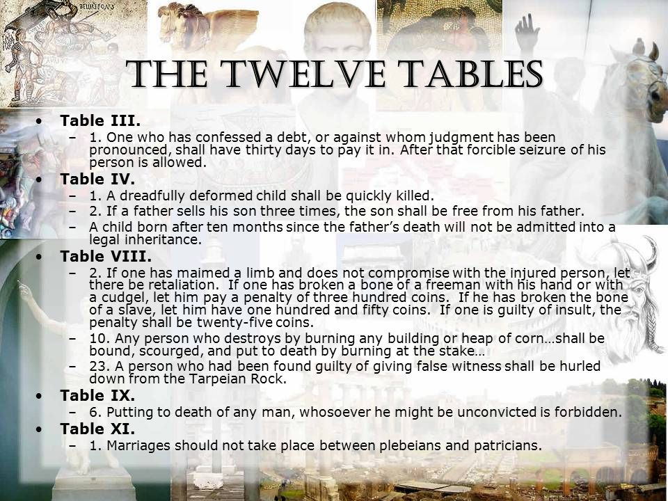 The Twelve Tables Table III. –1.