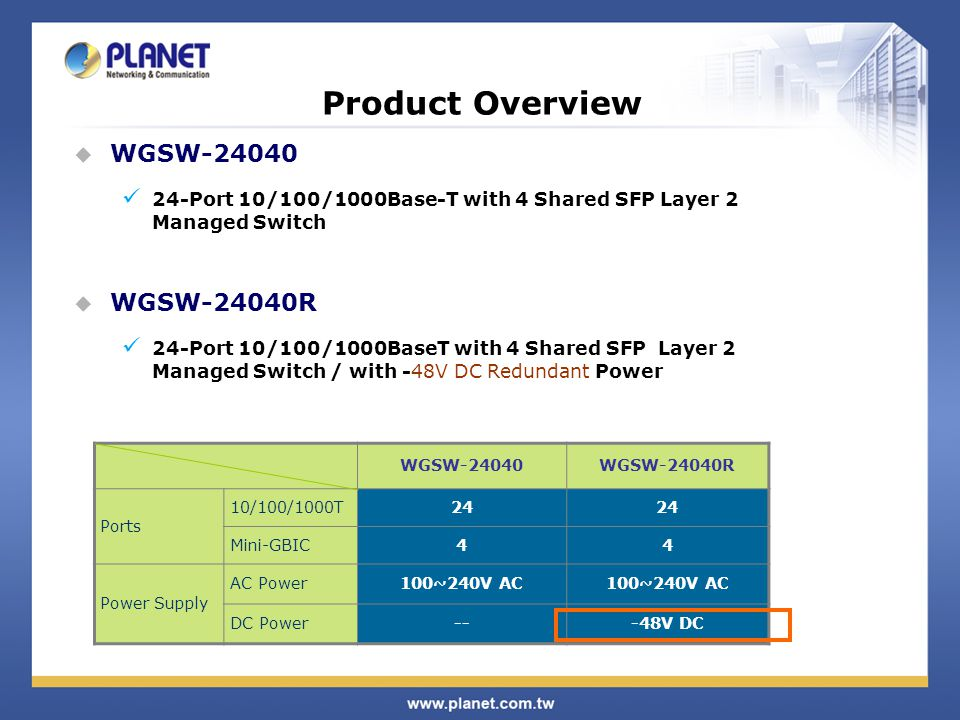 Product Features  Supports VLAN IEEE 802.1Q Tagged VLAN Provider Bridging (VLAN Q-in-Q) support (IEEE 802.1ad) Private VLAN Edge (PVE) Protocol-based VLAN MAC-based VLAN Voice VLAN  Supports Spanning Tree Protocol STP, IEEE 802.1D (Spanning Tree Protocol) RSTP, IEEE 802.1w (Rapid Spanning Tree Protocol) MSTP, IEEE 802.1s Multiple Spanning Tree Protocol, spanning tree by VLAN BPDU Guard and BPDU Filtering enhances switch network reliability, manageability, and security.