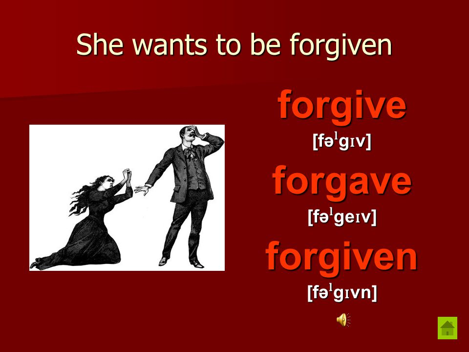 He always forgets things forget [fə ˡ get] forgot [fə ˡ g ɒ t] forgotten [fə ˡ g ɒ tn]