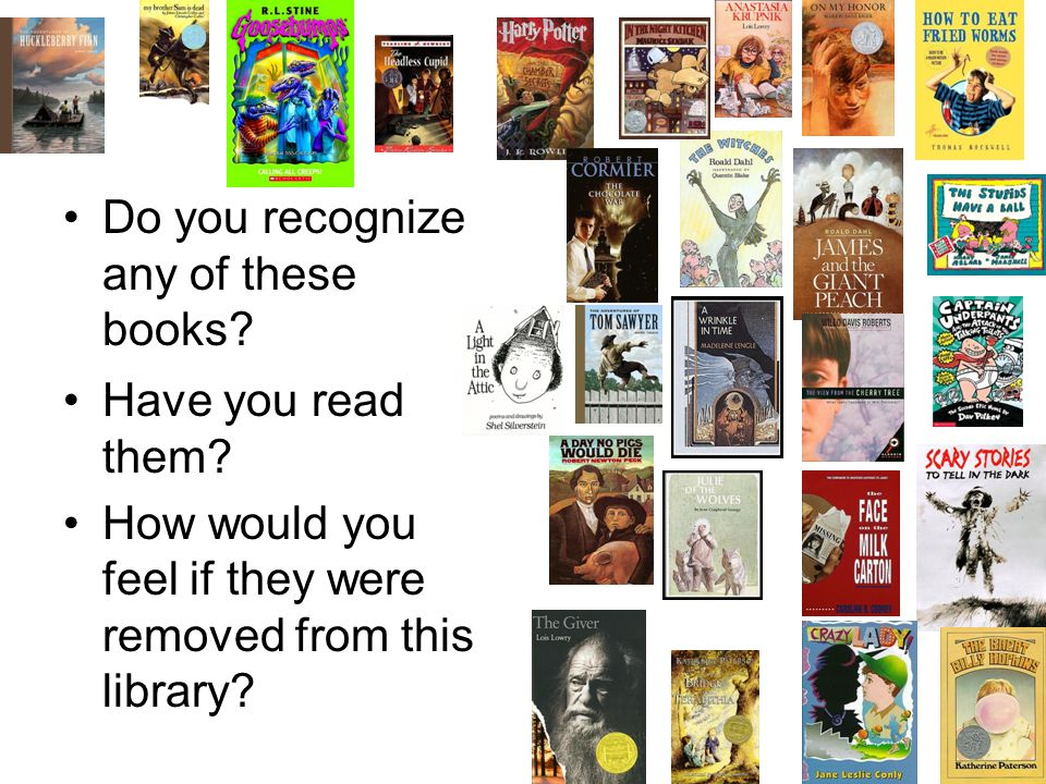 Do you recognize any of these books. Have you read them.