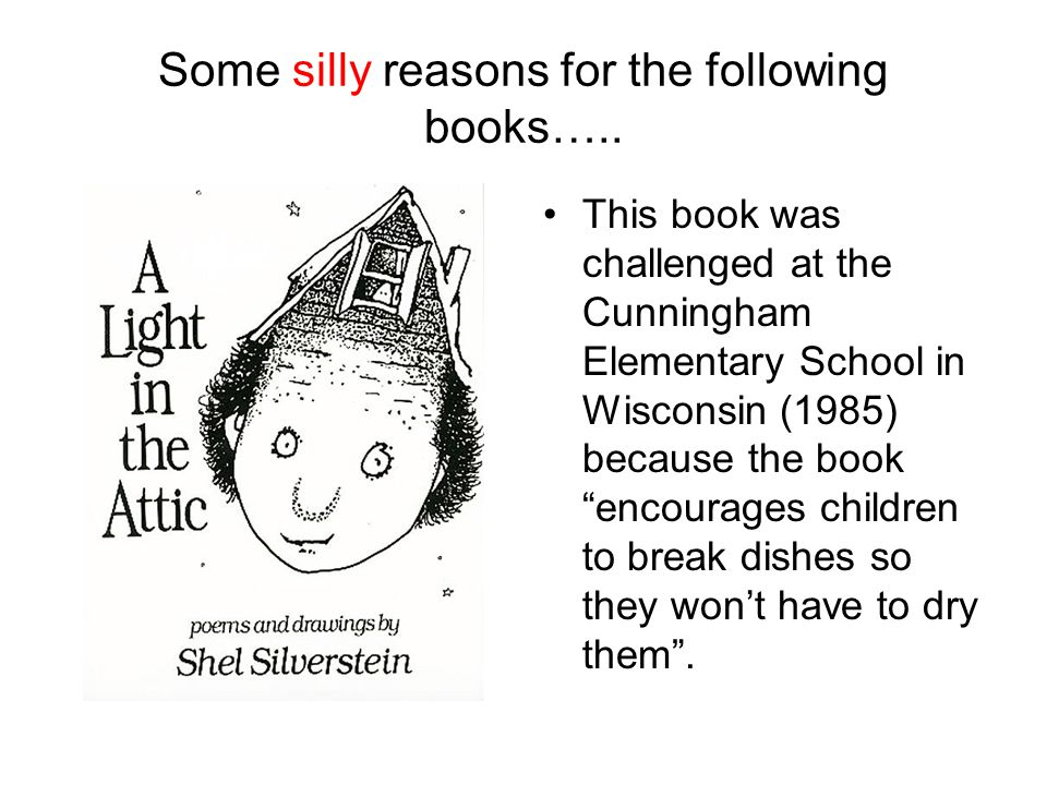 Some silly reasons for the following books…..