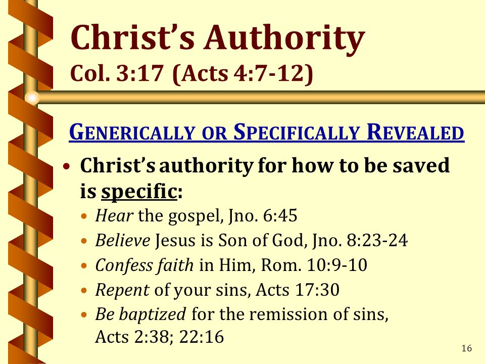16 Christ's Authority Col.