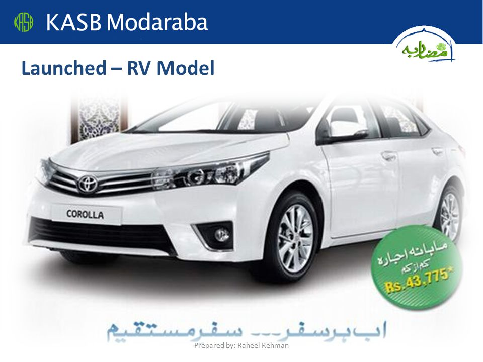 Launched – RV Model Prepared by: Raheel Rehman