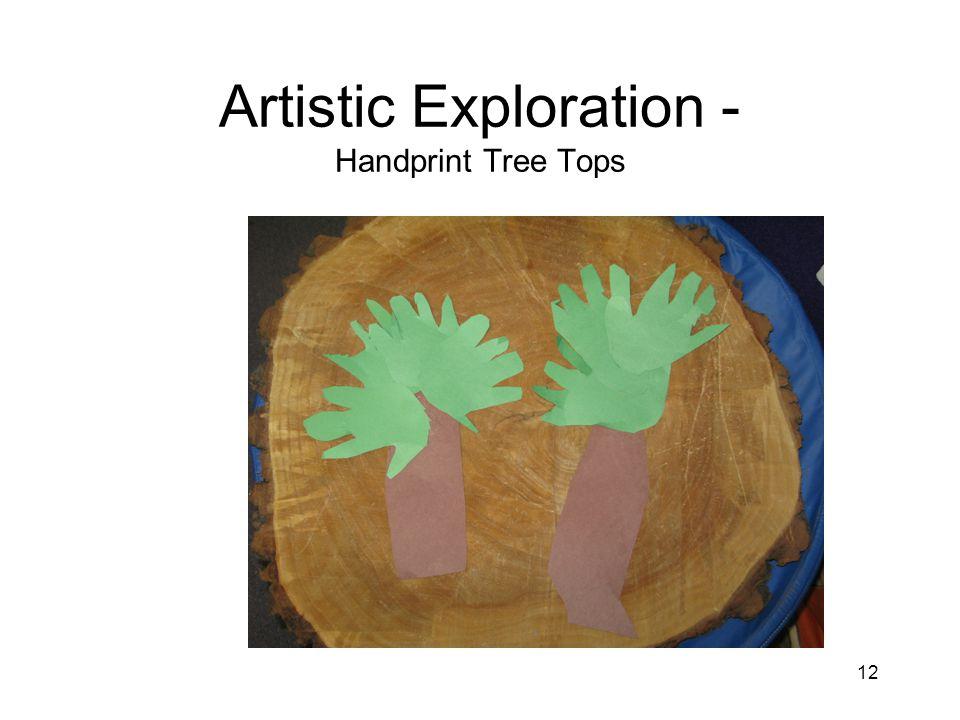 12 Artistic Exploration - Handprint Tree Tops