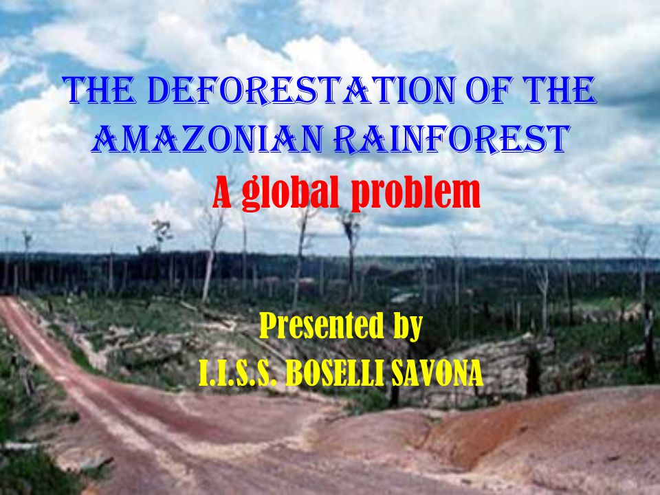 THE DEFORESTATION OF THE Amazonian rainforest Presented by I.I.S.S. BOSELLI SAVONA A global problem