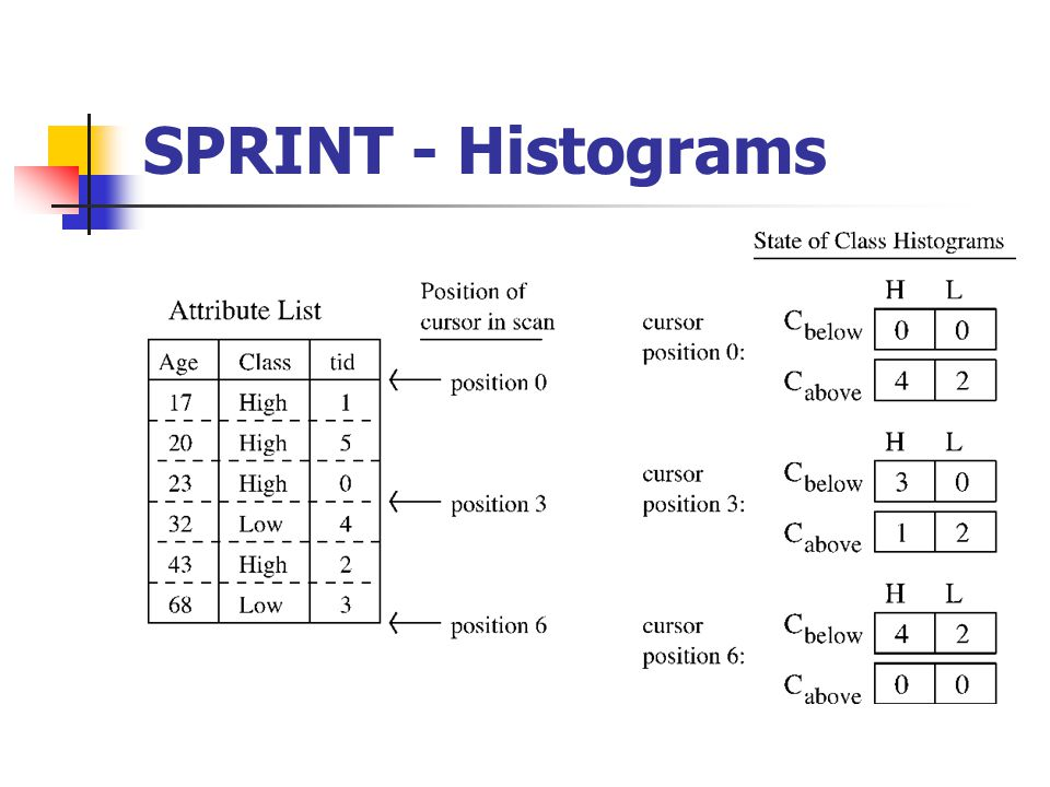 SPRINT - Histograms