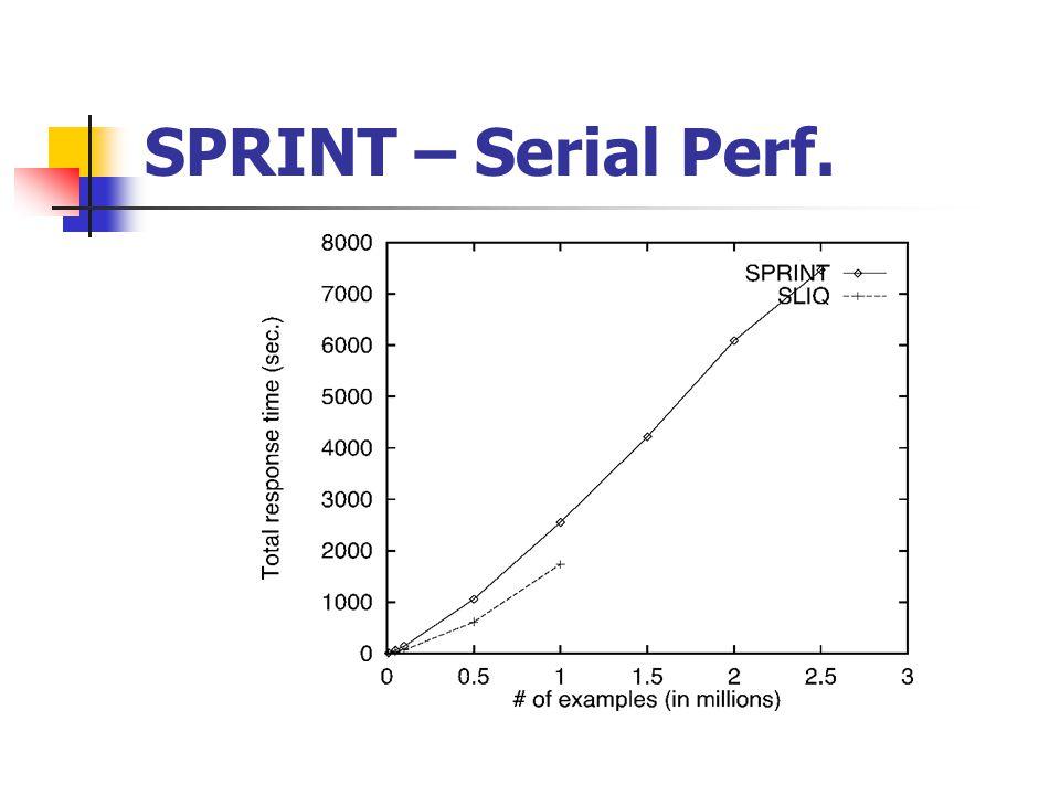 SPRINT – Serial Perf.